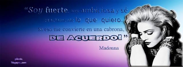 Soy fuerte~ Frases de Madonna ~Portada