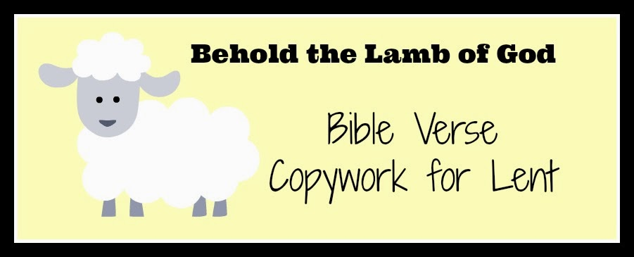 Bible Verse Copywork for Lent downloadable printable