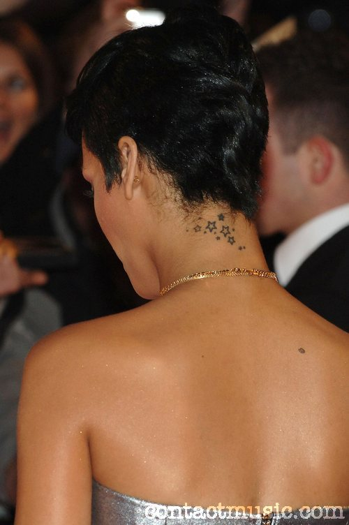 rihanna tattoo. Rihanna Stars Tattoo Design on