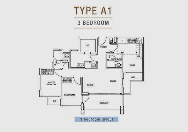 Sunnyvale Residences 3 Bedrooms Floor Plan