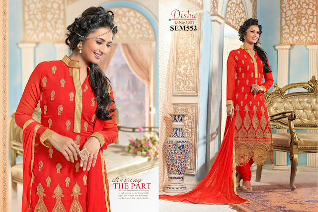 Divyanka Tripathi In Georgette Long Salwar Kameez