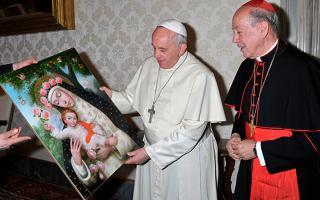 Santa Rosa - Papa Francisco y Cardenal Cipriani