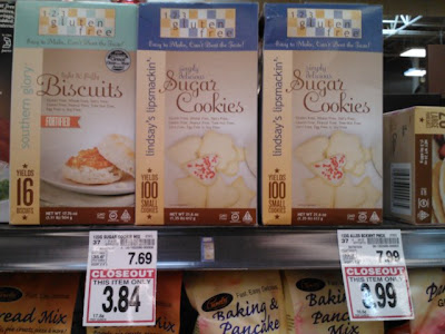 123 gluten free sugar cookie mix on closeout at frys