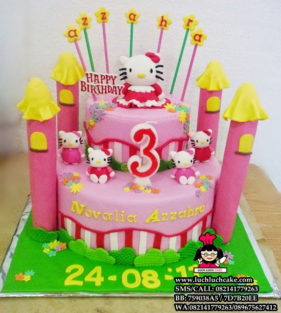 Kue Tart Ulang Tahun Hello Kitty Tingkat Daerah Surabaya - Sidoarjo