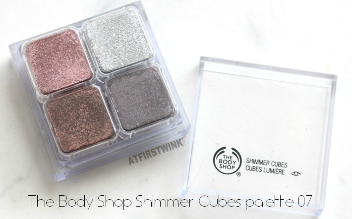 Valentine's day 2015 eye makeup look with the Bodyshop Shimmer Cubes palette 07