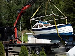 Trolling Båten på vei ut på Randsfjorden etter Storørret :-)