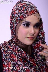 Saqina Pashmina Natasya - Hitam Kombinasi (Toko Jilbab dan Busana Muslimah Terbaru)