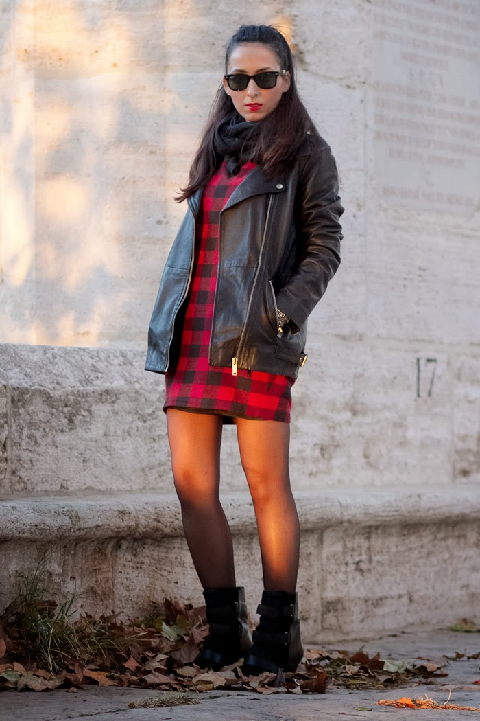 Vestido cuadros / Plaid Print Dress: FRONT ROW SHOP