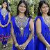 Gemini Blue Netted Salwar kameez