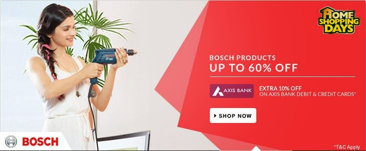 Buy Bosch Products upto 72% OFF starting Rs.179 only at Flipkart.
