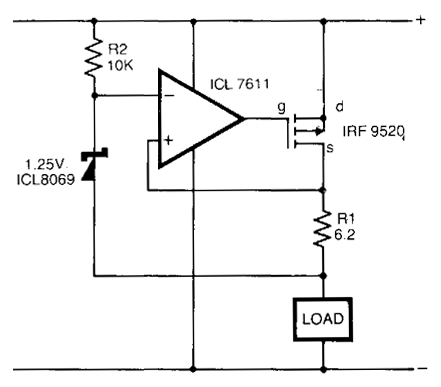Safe Constant Current Source Circuit    Diagram      Electronic