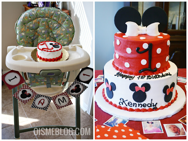 minnie mouse smash cake, birthday cake, banner