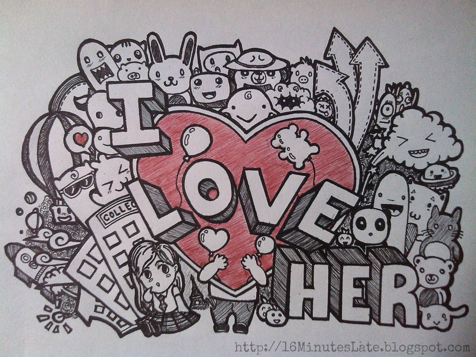 The gallery for i love you doodle tumblr for Love doodles to draw