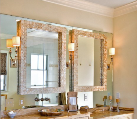 Sconces On Bathroom Mirror | Decorator Showcase : Home