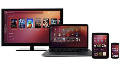 Konvergensi Ubuntu menjadi sebuah OS multi-form-factor yang dapat digunakan pada Ponsel, Tablet, dan Desktop