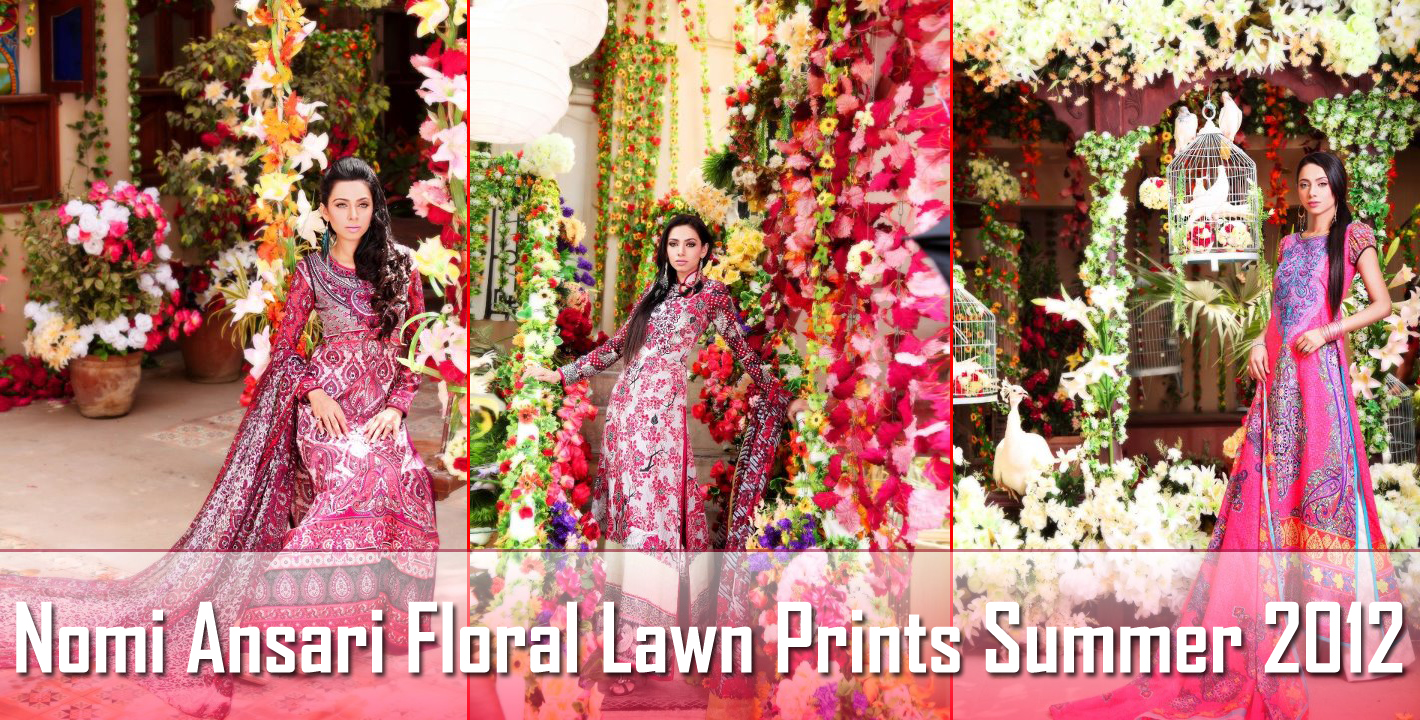 Ansari Nomi floral lawn prints collection foto