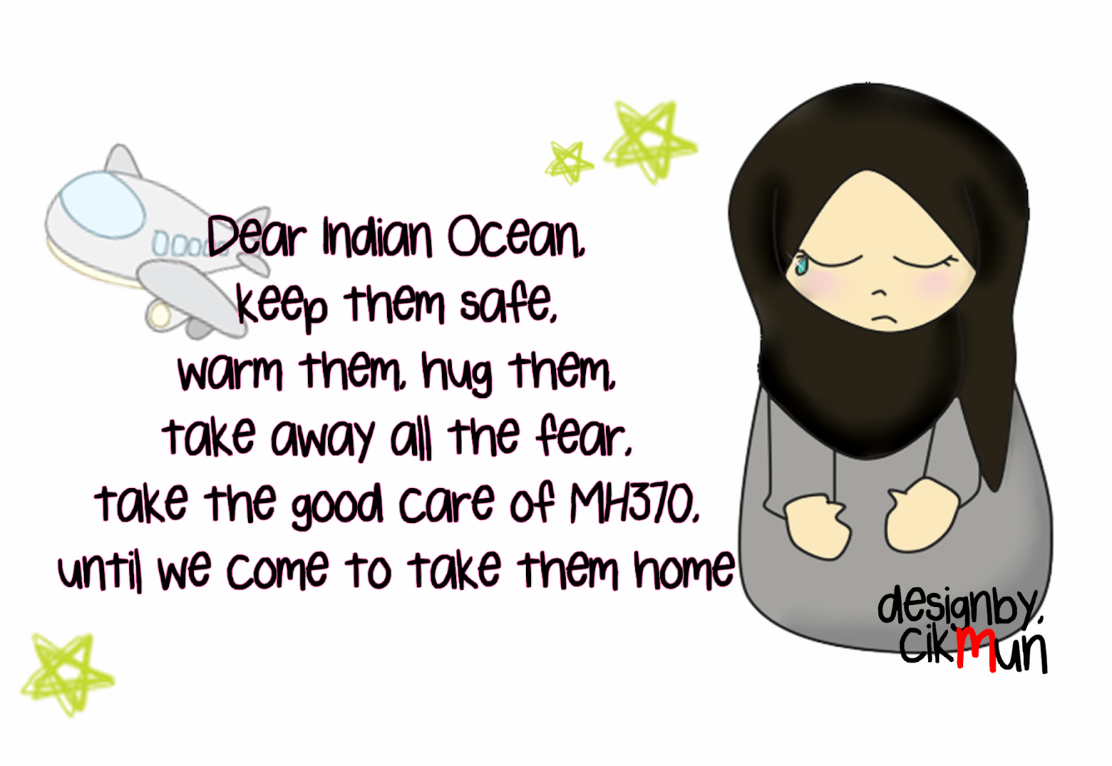 #MH370, malaysia, #pray4mh370, #ripmh370, indian ocean, doodles, cikmun,