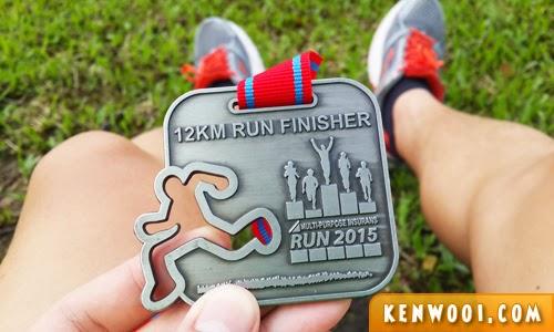 running medal 12km