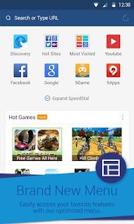 UC Browser Mini Versi 10.65 Apk 2016 Bisa Buka Full Akses Situs