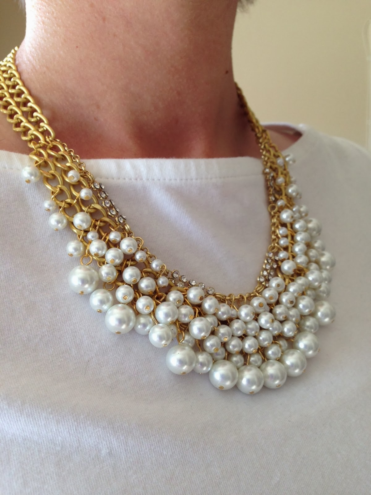 Everyday Bijoux: Ameera Noor Pearl Statement Necklace ...