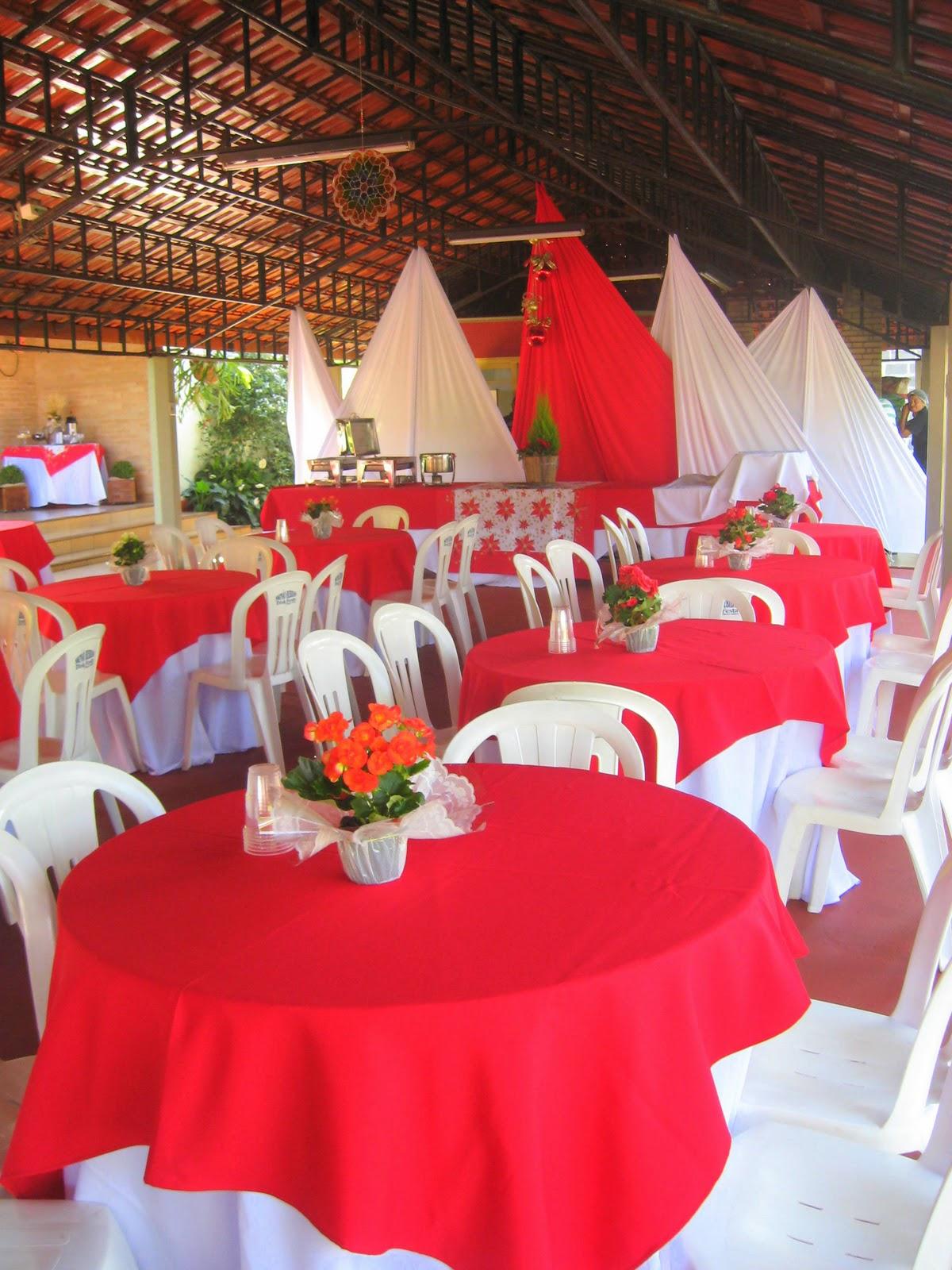 decoracao festa natal:Chácara São Pedro: Decoração natalina vermelha e branca