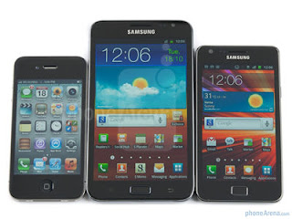 iPhone 4, Galaxy Note, Galaxy S2