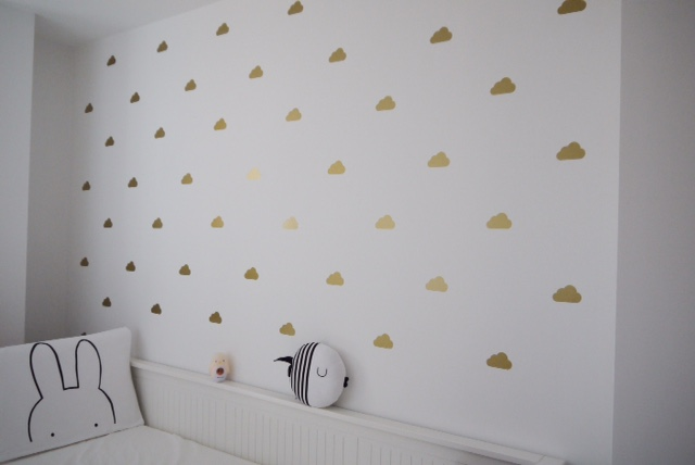 nursery update part 1: baby room | gold clouds etsy | john lewis cot