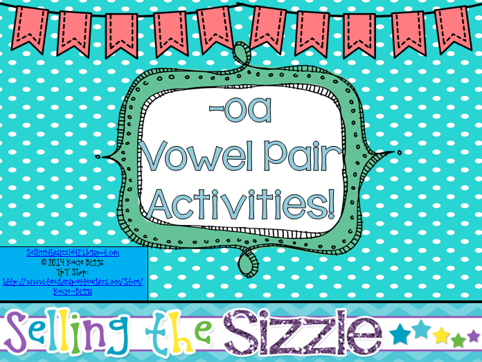 http://www.teacherspayteachers.com/Product/-oa-Vowel-Pair-Activities-1222340