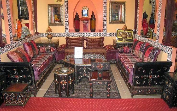 Fantastique artisanat la d coration de salon traditionnel for Salon oriental marocain