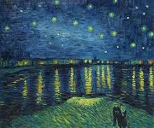 La nuit étoilée sur le Rhône  VINCENT