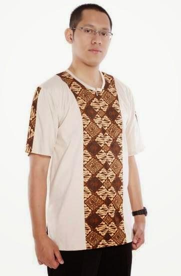 Desain baju batik muslim kombinasi kaos