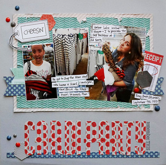Shopping Scrapbook Layout