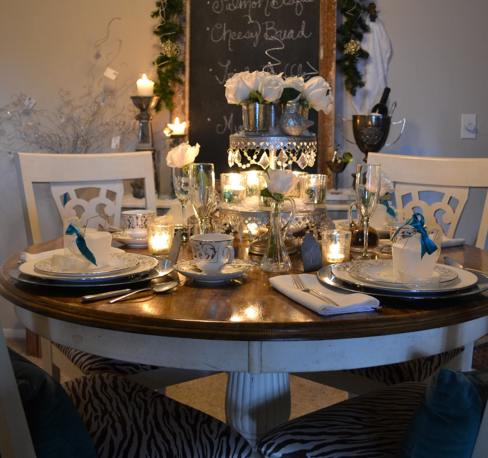 The Poor Sophisticate New Years Tablescape Wedding Ideas