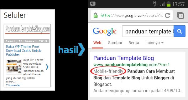 Google Menyarankan Penggunaan Mobile Friendly Pada Blog