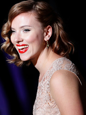 Scarlett Johansson Dangling Gemstone Earrings