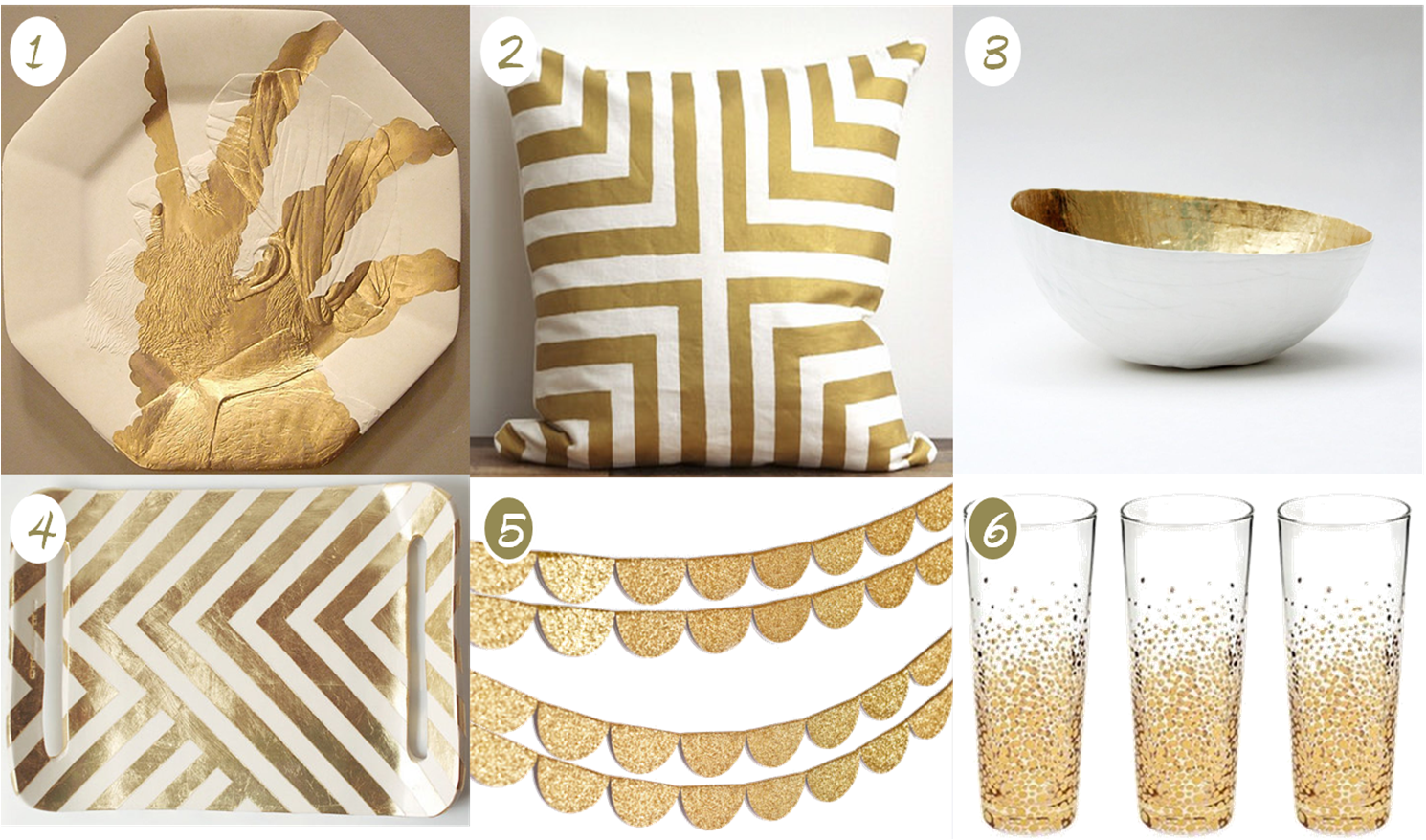 The brilliant budgetista home decor white and gold for Gold home decorations