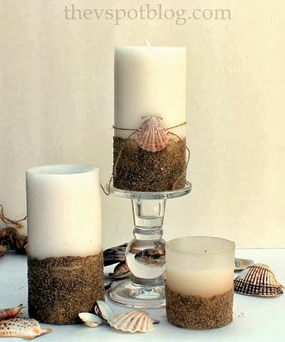how to make sand candles at the beach