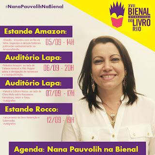 Nana Pauvolih na XVII Bienal Internacional do Livro (Rio de Janeiro)