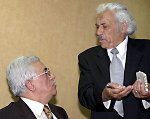 Abbas (left) with Ahmed Jubarah
