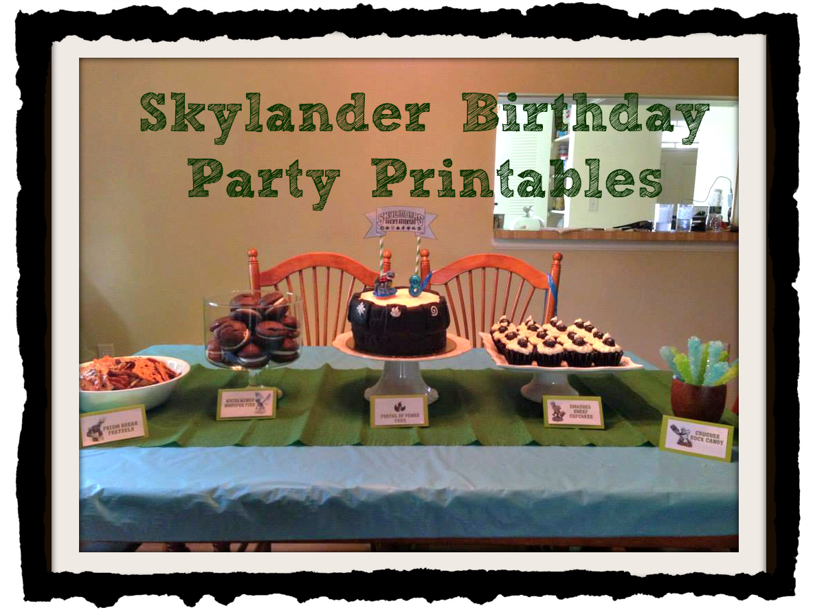 Skylander Birthday Party With Free Printables My Friend Eileen Throws The Best Parties She Always Has A Theme And Sticks To It