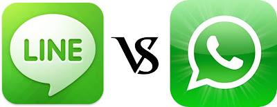 LINE Vs WhatsApp in Play Store