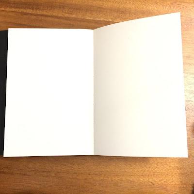 Opened journal laying flat image.