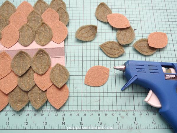 Die cut, stitched felt leaves | popperandmimi.com