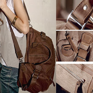 BJ25 CASUAL THREE BIG BAGS WITH CANVAS SHOULDER MESSENGER BAGS GBG-0076