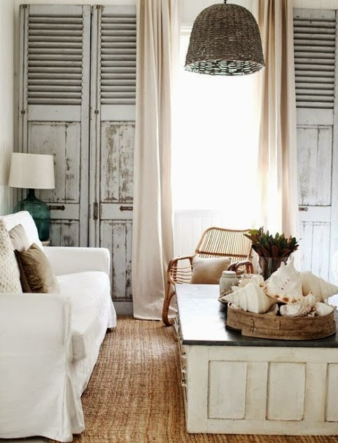 old shutters for wall decor