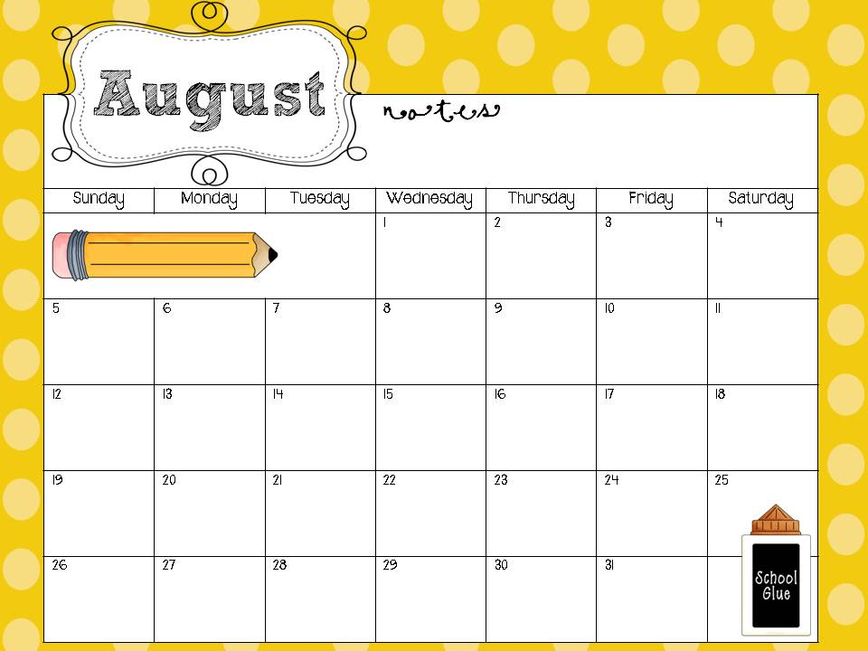 Calendar Printables For Teachers : Free printable calendars for teachers new calendar