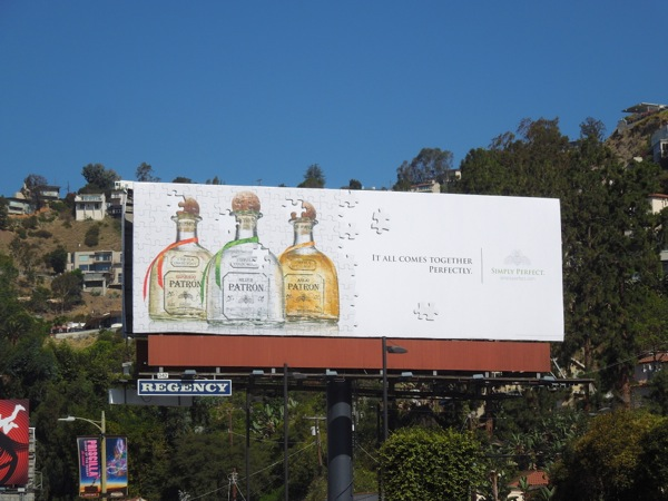 Patron Tequila jigsaw puzzle billboard