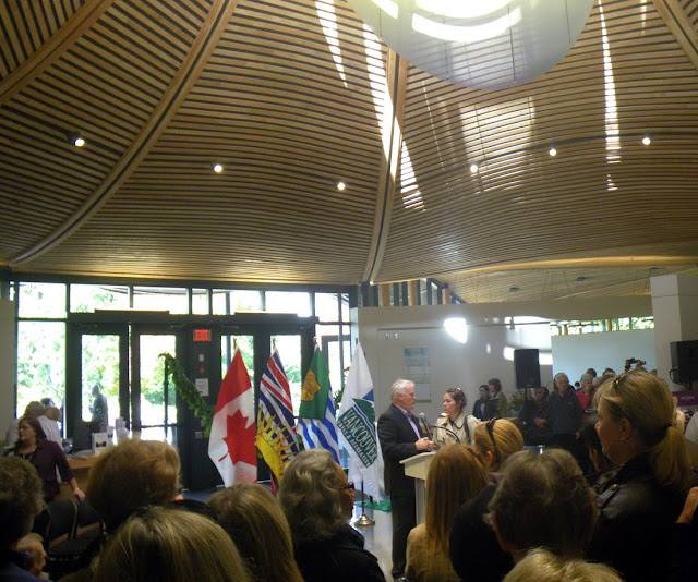 Opening Ceremony - Vandusen Visitor Centre, Oct. 23th, 2011