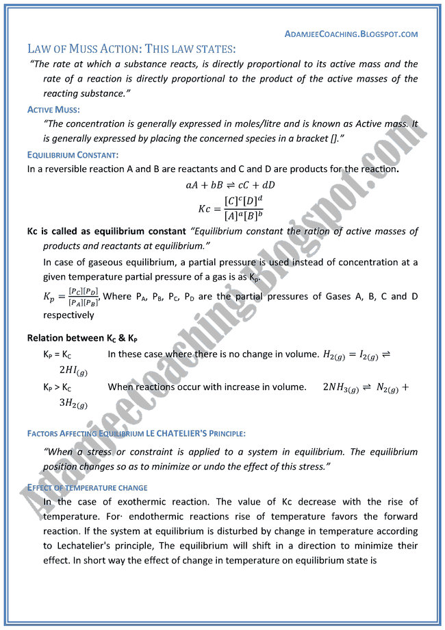 Chemistry Lectures - Chemical Equilibrium