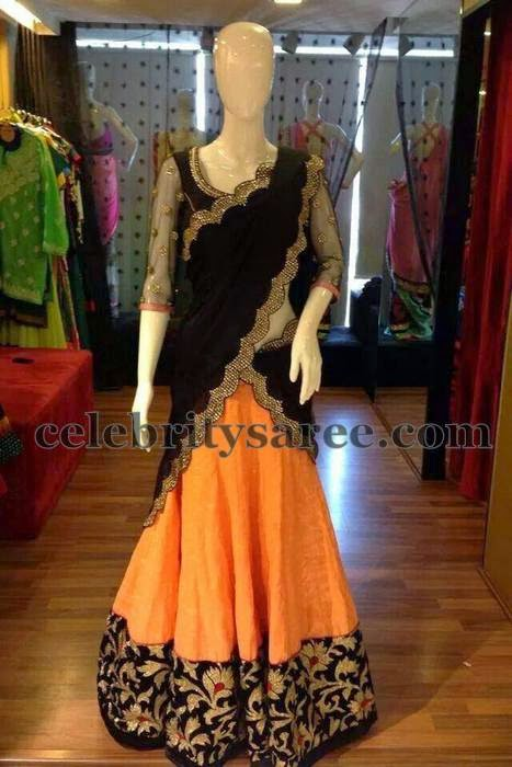 Half Saree with Net Blouse